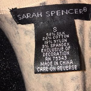 Sarah Spencer Sweaters - Sarah Spencer Leopard Print Sweater